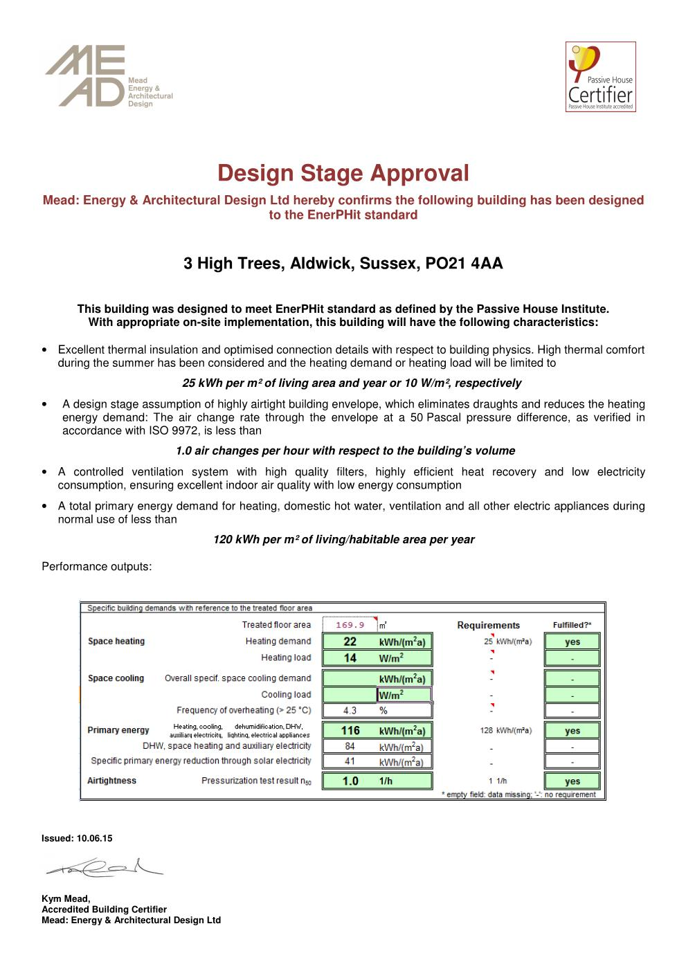High Trees  Design Stage Approval